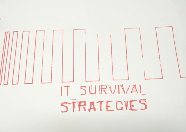 'IT Survival Strategies', trying out the plotter during Jon Nordby's workshop